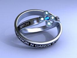 Vintage Gemstone Rings 3d model