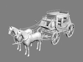Horse and Carriage 3d model