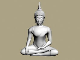 Thai Buddha Statue 3d model