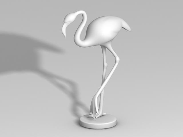Crane Bird Sculpture 3d model