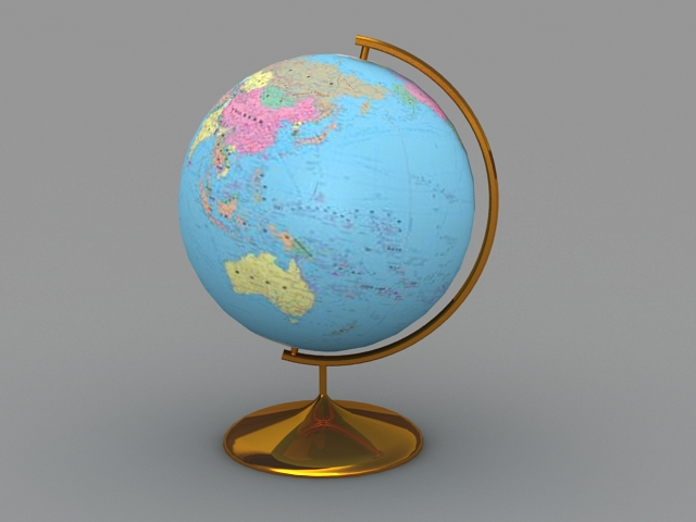 Desk Globe 3d model 3ds Max files free download - modeling 44470 on ...
