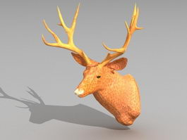 Deer Head Decoration 3d model