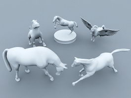 Horse Statue Collection 3d model