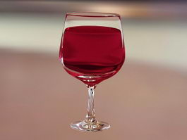 Glass of Wine 3d model
