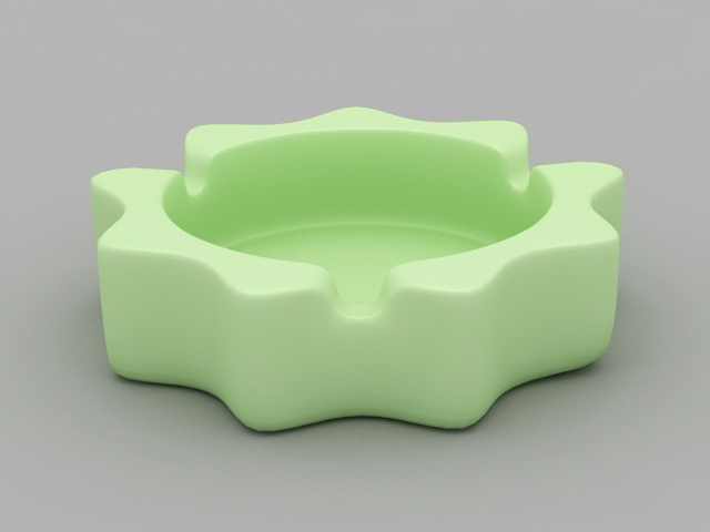 Green Ashtray 3d model