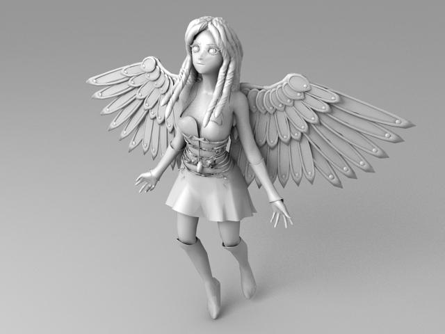 Female Warrior Angel 3d model