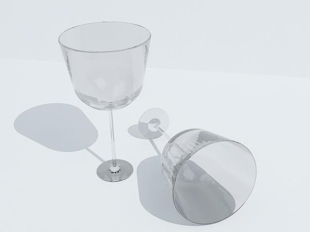 Empty Wine Glass 3d model