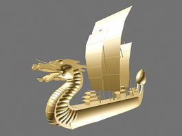 Dragon Boat Decoration 3d model