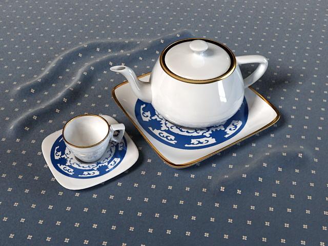 Chinese Tea Set 3d model