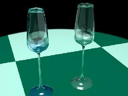 Champagne Glasses 3d model