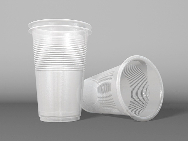 Disposable Plastic Cups 3d model