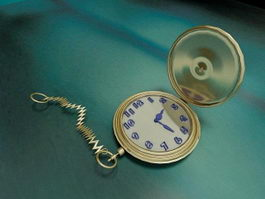 Gold Pocket Watch 3d model