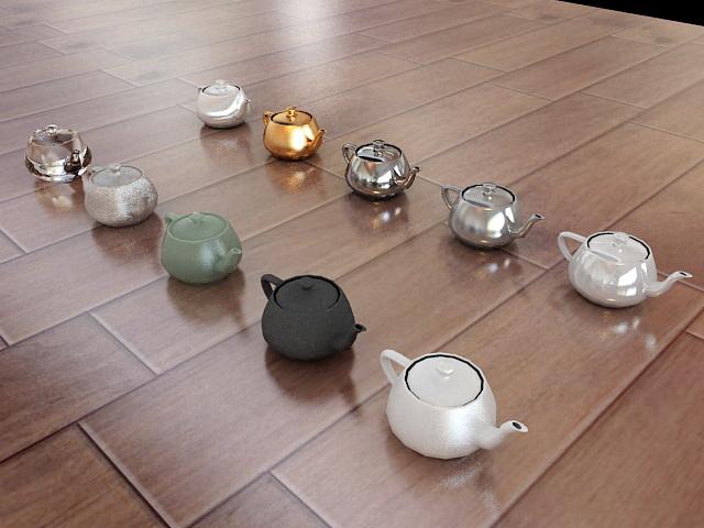 Teapot Collection 3d model