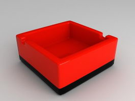 Red Ashtray 3d preview