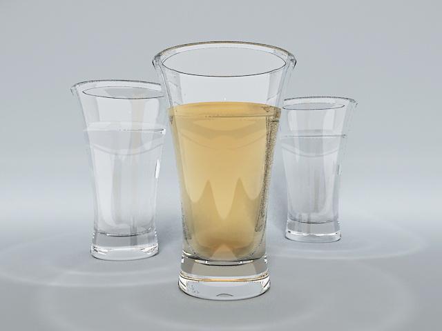Beer Glasses 3d model