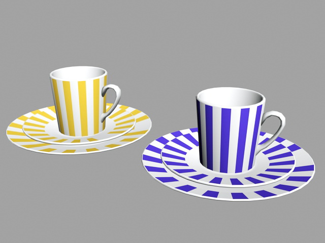 Coffee Mug with Saucer 3d model
