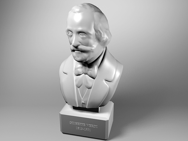 Giuseppe Verdi Bust Statue 3d model