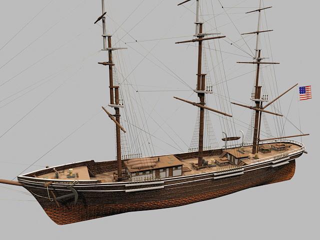 Flying Cloud Clipper Ship 3d model