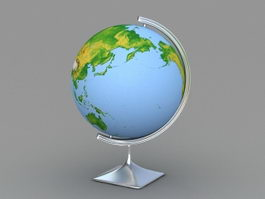 earth globe 3d model free download