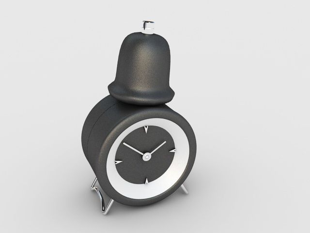 Black Alarm Clock 3d model