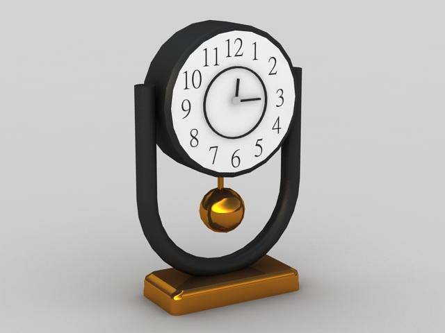 Pendulum Desk Clock 3d rendering