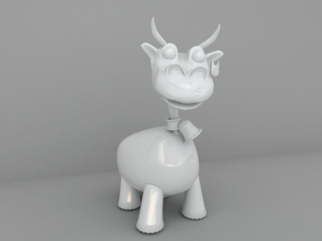 White Ceramic Dinosaur 3d model