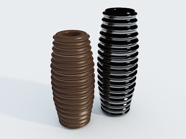 Decorative Vases Pottery 3d model