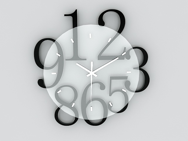 Modern Wall Clock 3d model