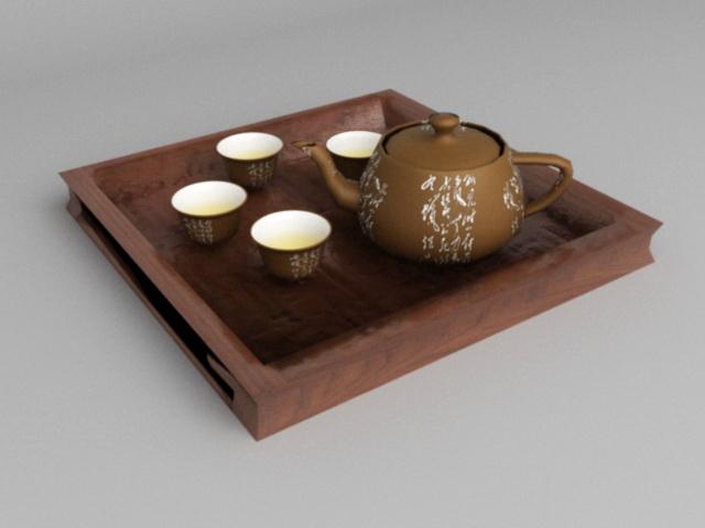 Clay Tea Sets 3d model