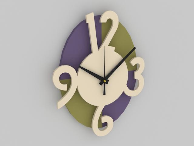 Decorative Wall Clock 3d model