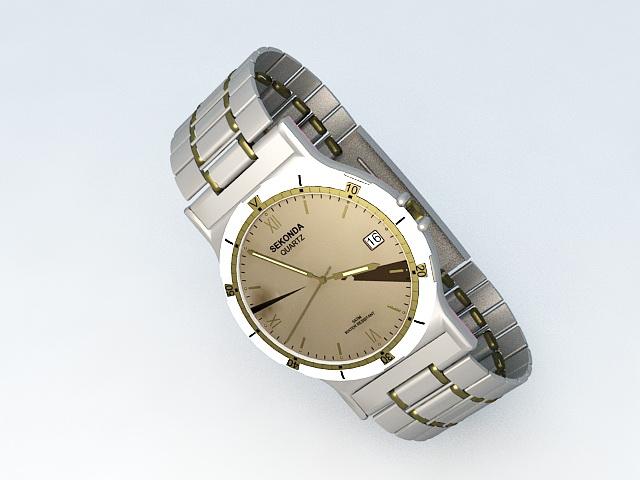 Sekonda Quartz Watch 3d model