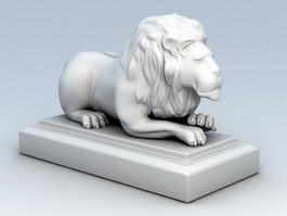 Laying Lion Statue 3d model