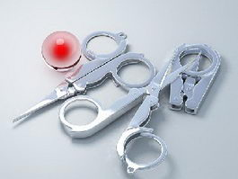 Folding Nail Scissors 3d preview