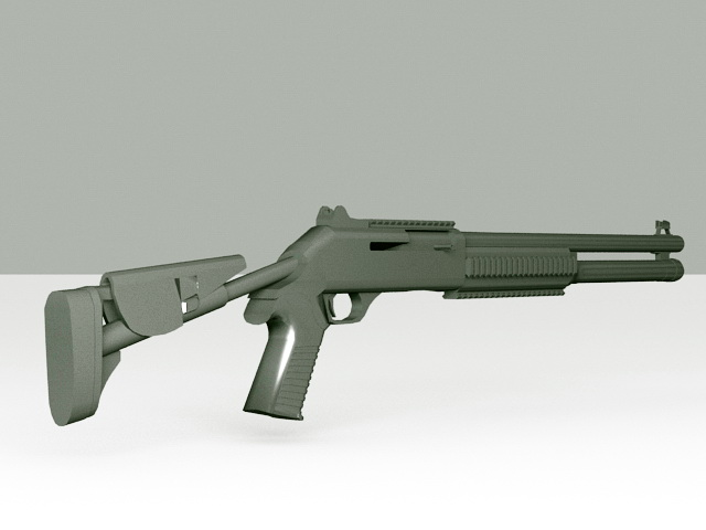 M1014 Tactical Shotgun 3d model
