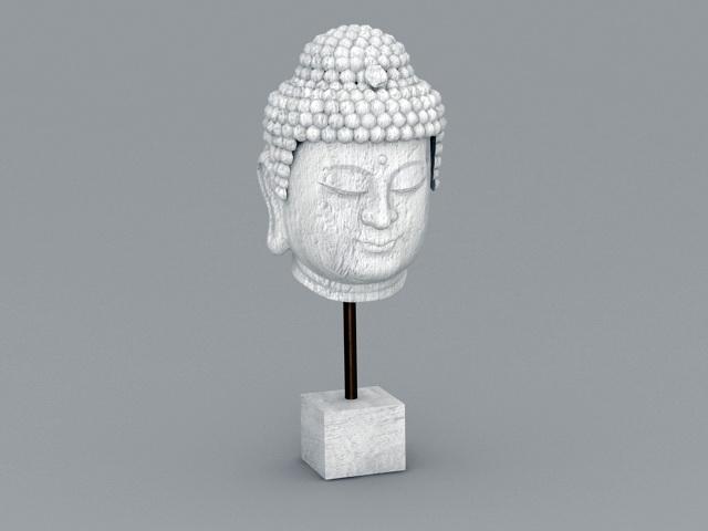 Buddha Head Sculpture 3d model