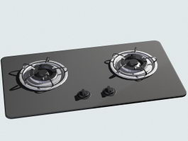 Gas Burner Stove 3d preview