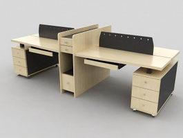 Office Desk Partition 3d model