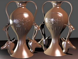 Egyptian Vases 3d model