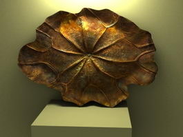 Bronze Lotus Leaf Decorations 3d model