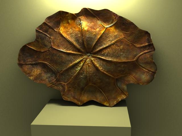 Bronze Lotus Leaf Decorations 3d model