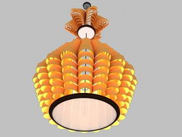 Chinese Pendant Light Fixture 3d model