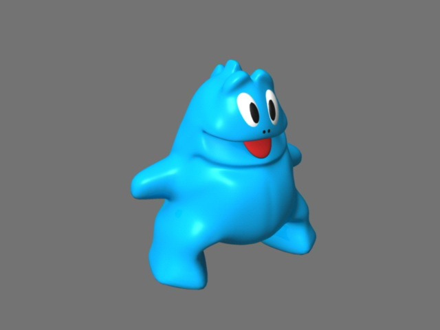 Cute Blue Dinosaur 3d model
