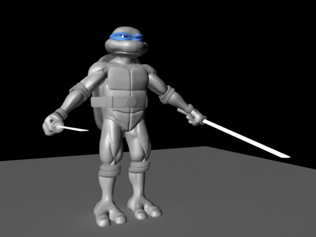 Ninja Turtles Rig 3d model