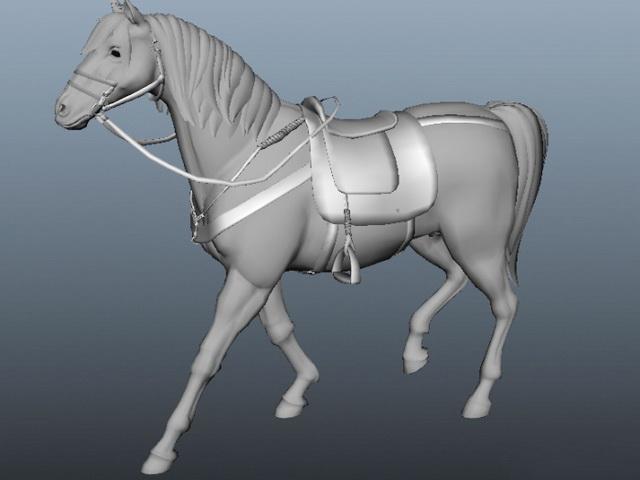 Animated Horses Running 3d model