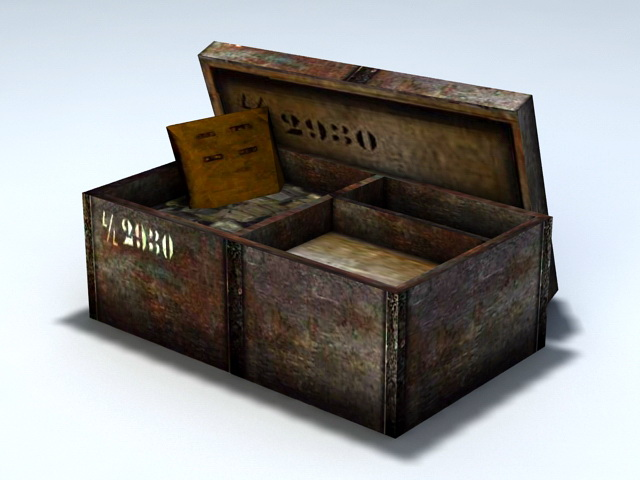Old Ammo Box 3d model