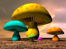 Fantasy Mushroom 3d model