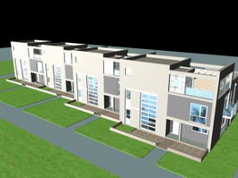 Townhouse Buildings 3d model