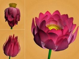 Lotus Flower Rig 3d model