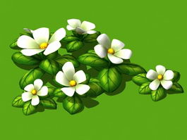 Flowering Plant Cartoon 3d model