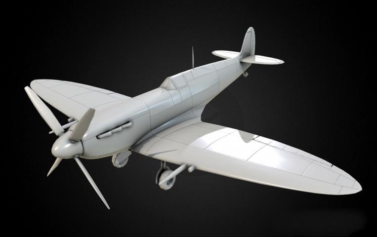 Spitfire Fighter Aircraft 3d model